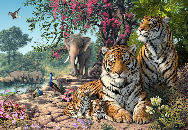 Tiikeri tapetti eläimet