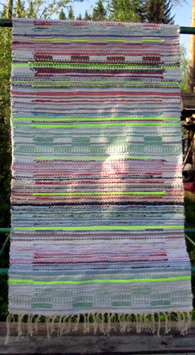 April Learned To Weave Rag Rugs While In Finland And Made The One Above For Grace