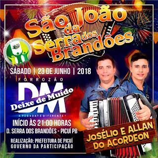 Festa de São João acontece neste sábado (23), em Serra dos Brandões