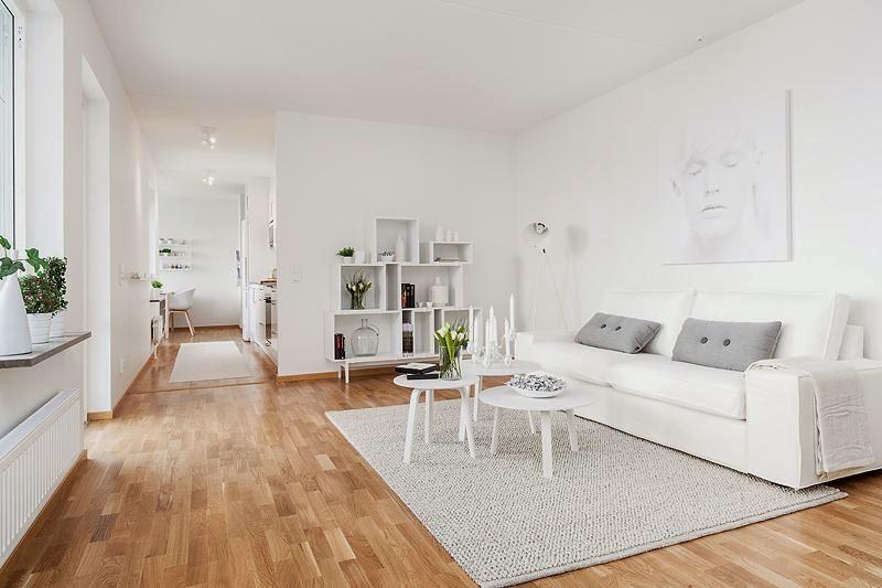 Blanco y madera para decorar el hogar