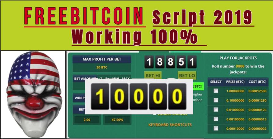 freebitcoin Script Bitsler Script Luckygames Script Working 100