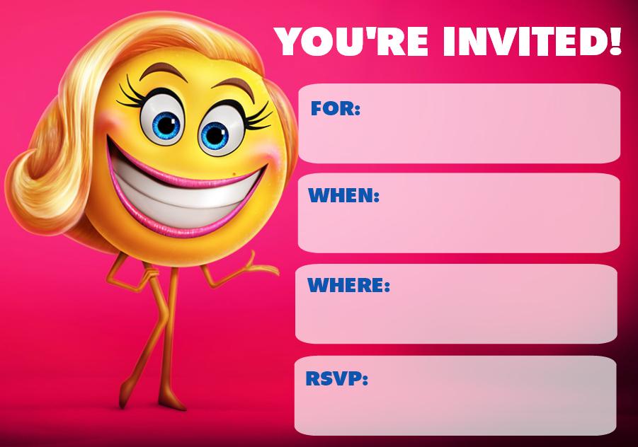 Emoji Movie Party Printables