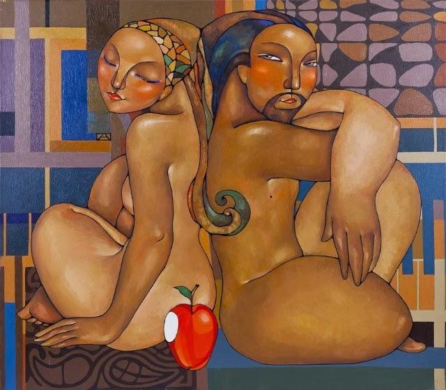 казахская художница. Акжана Абдалиева