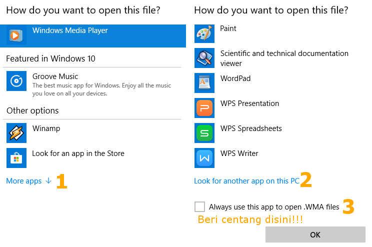 Merubah aplikasi pembuka file bawaan di Windows 10