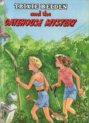 cover for Trixie Belden book, The Gatehouse Mystery