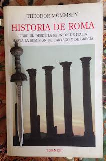 Portada del libro III de Historia de Roma, de Theodore Mommsen