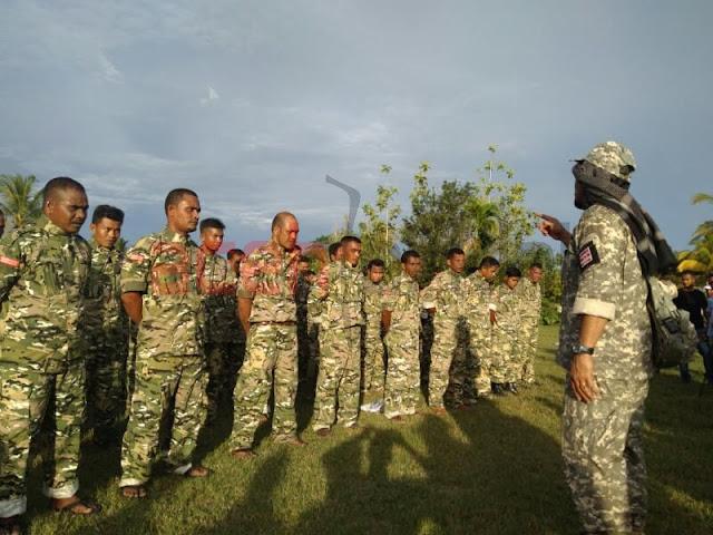 Ada Latihannya, Satgas Partai Aceh Terima Pakaian Seragam