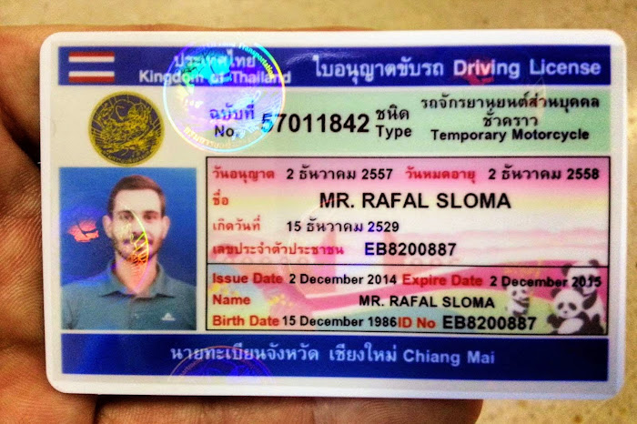 Thai Drivers Licence