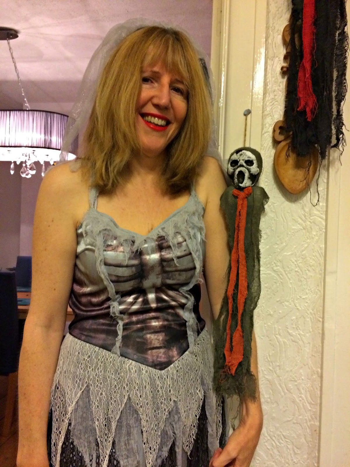 Linda Hobbis in Zombie Bride fancy dress, Halloween 2016