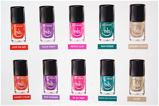 smalto unghie beach club collection TNS cosmetics