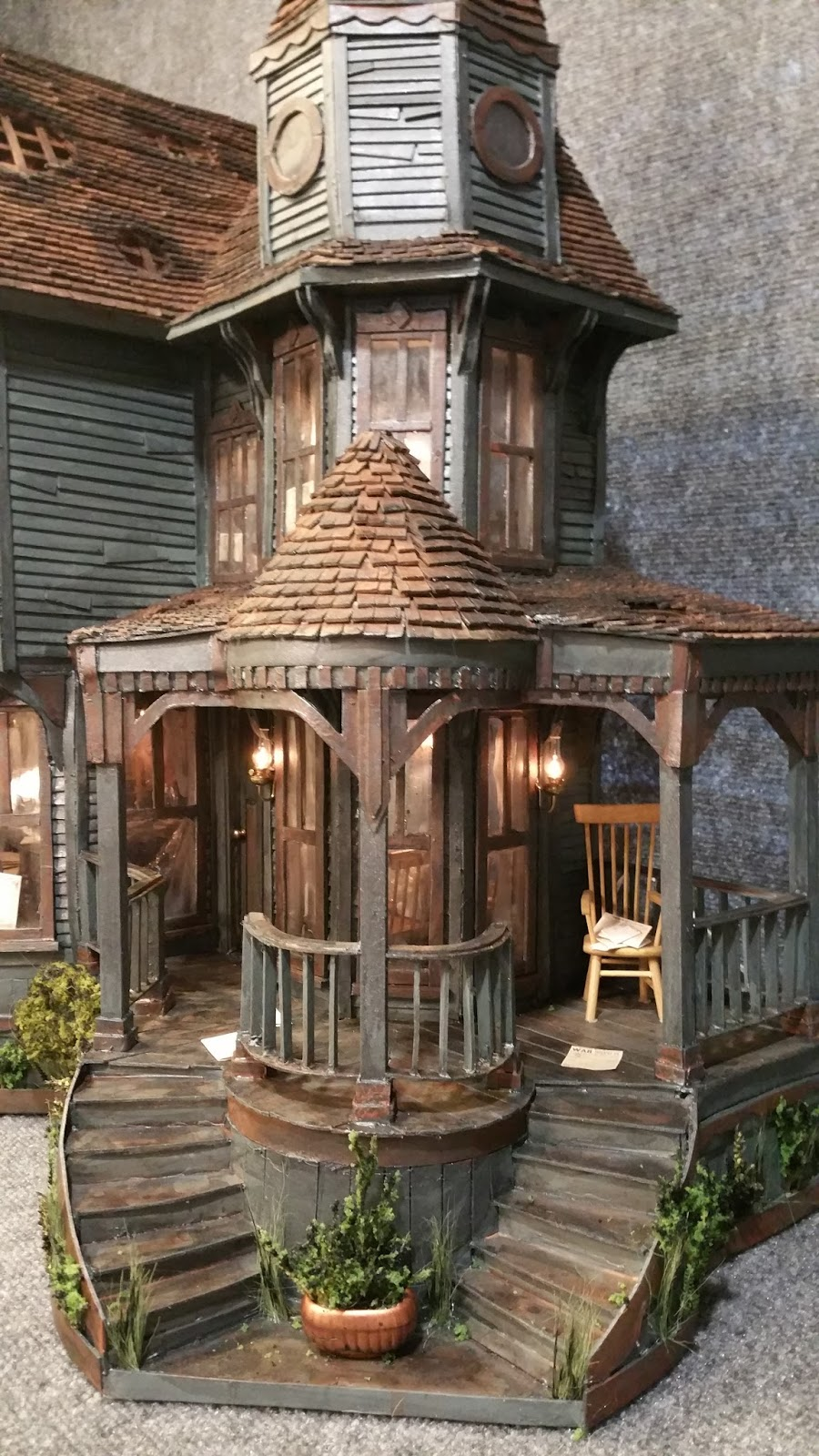 Greggs miniature imaginations haunted mansion made out of for Pinterest haunted house