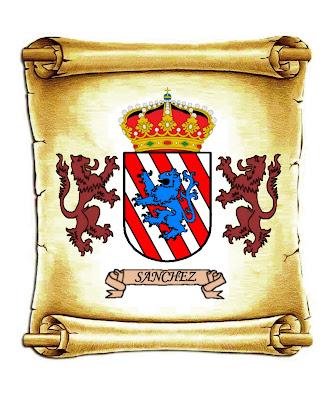 escudo heráldico Apellido Sánchez