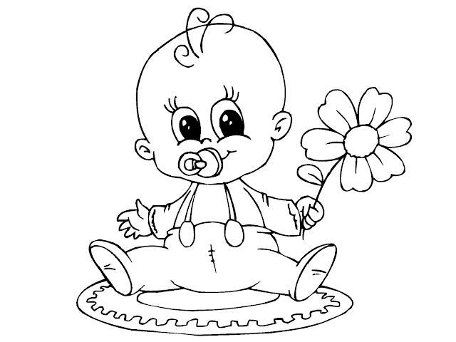 Gambar Mewarnai Bayi - 2