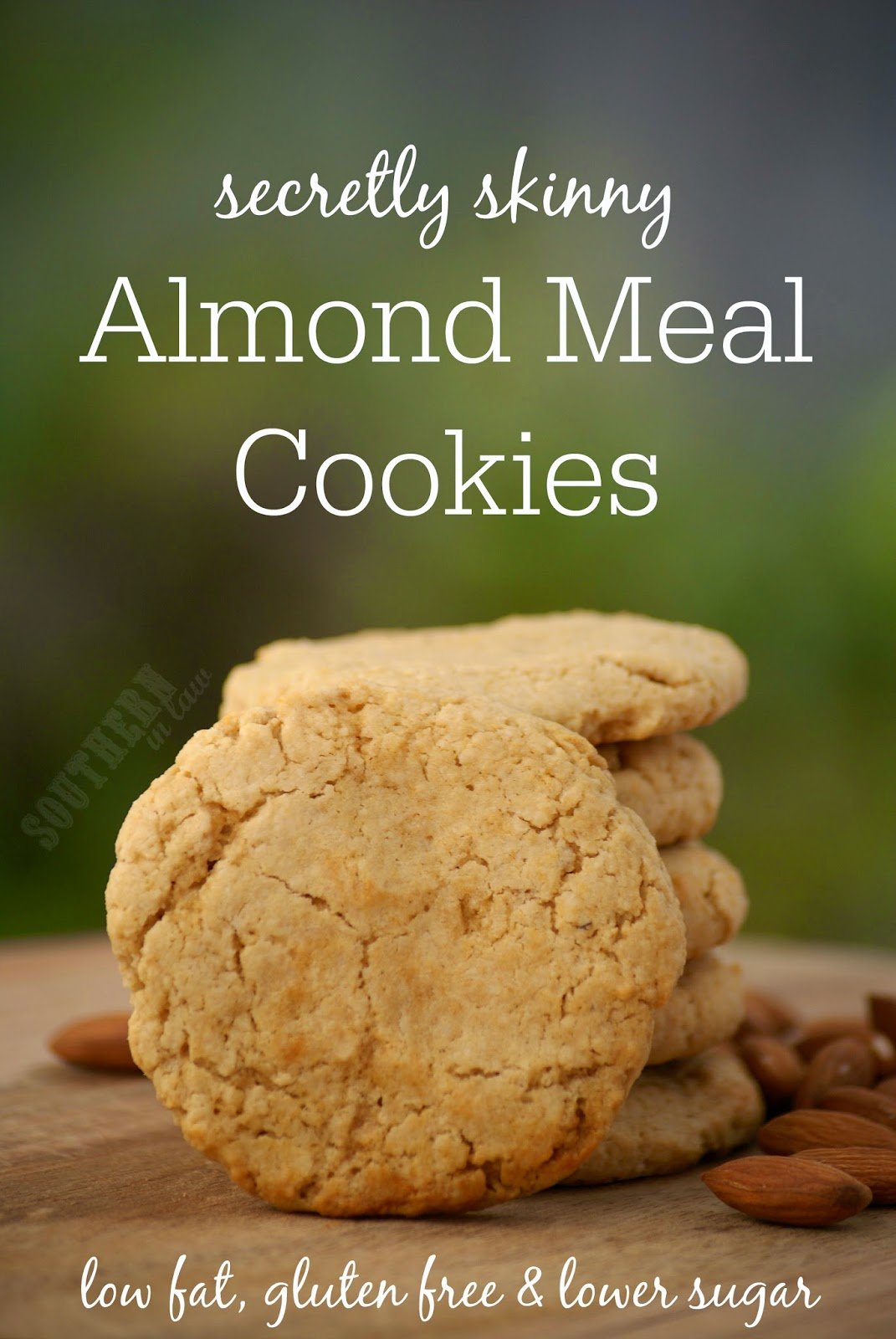 Gluten Free Skinny Almond Meal Cookies Recipe - Soft and Fluffy Almond Meal Cookies - gluten free, low fat, low sugar, one bowl cookie recipe, healthy