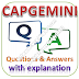 CAPGEMINI Written Test: Aptitude, Reasoning, English; Questions and Answers with Explanations
