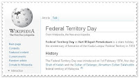Federal Territory Day - Hari Wilayah Persekutuan - Kuala Lumpur, Putrajaya, Labuan