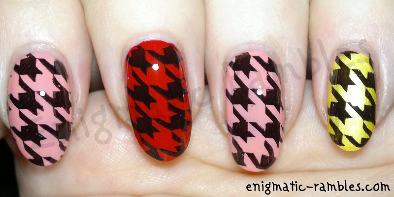 houndstooth-skittle-stamped-nails-nail-art-bundle-monster-223-BM223