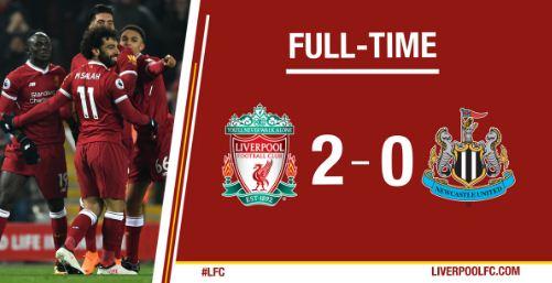 Liverpool vs Newcastle United 2-0 Highlights