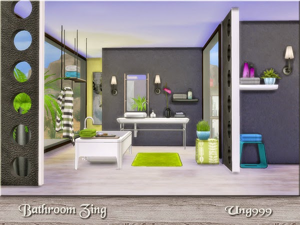 Ung999 S Black White Living: My Sims 4 Blog: Ung999's Bathroom Zing