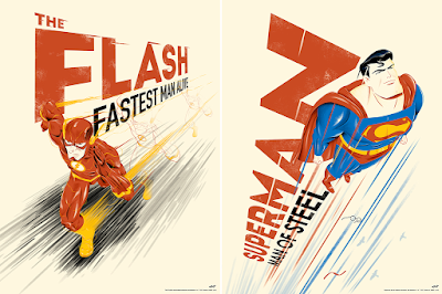 The Flash & Superman Screen Print Diptych by Doaly x Bottleneck Gallery x DC Comics