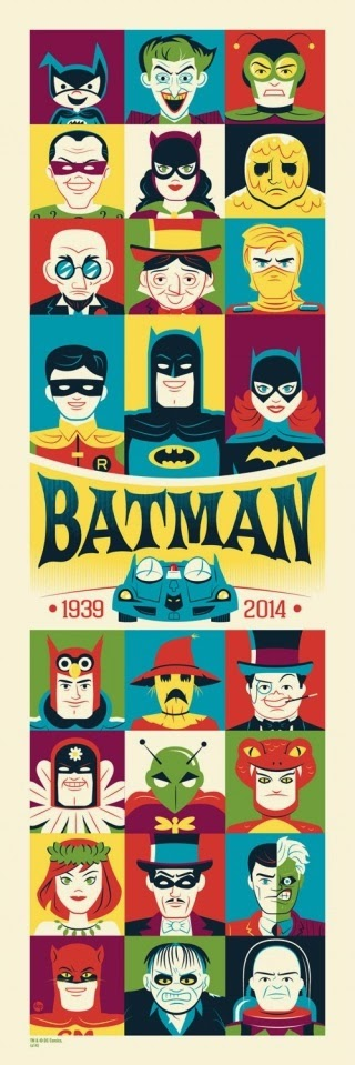 "Batman 75th Anniversary Screen Print Series - ""Batman: The Silver Age"" by Dave Perillo"