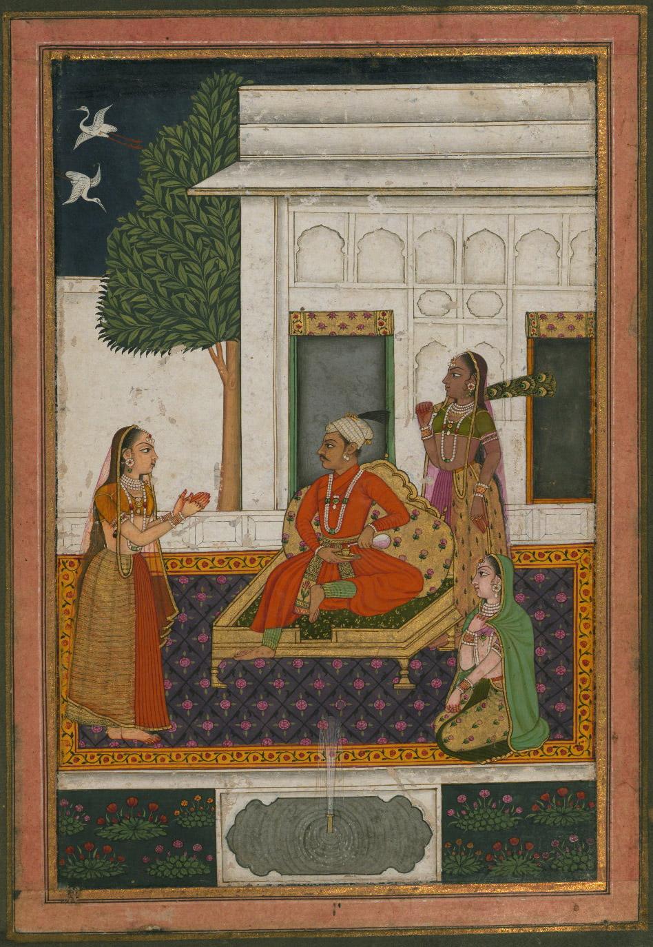 Malavakausa Raga (Malakausika, Malakausa, Malkos Raga) - Miniature Painting, Deccan School, Ragamala series, 19th Century