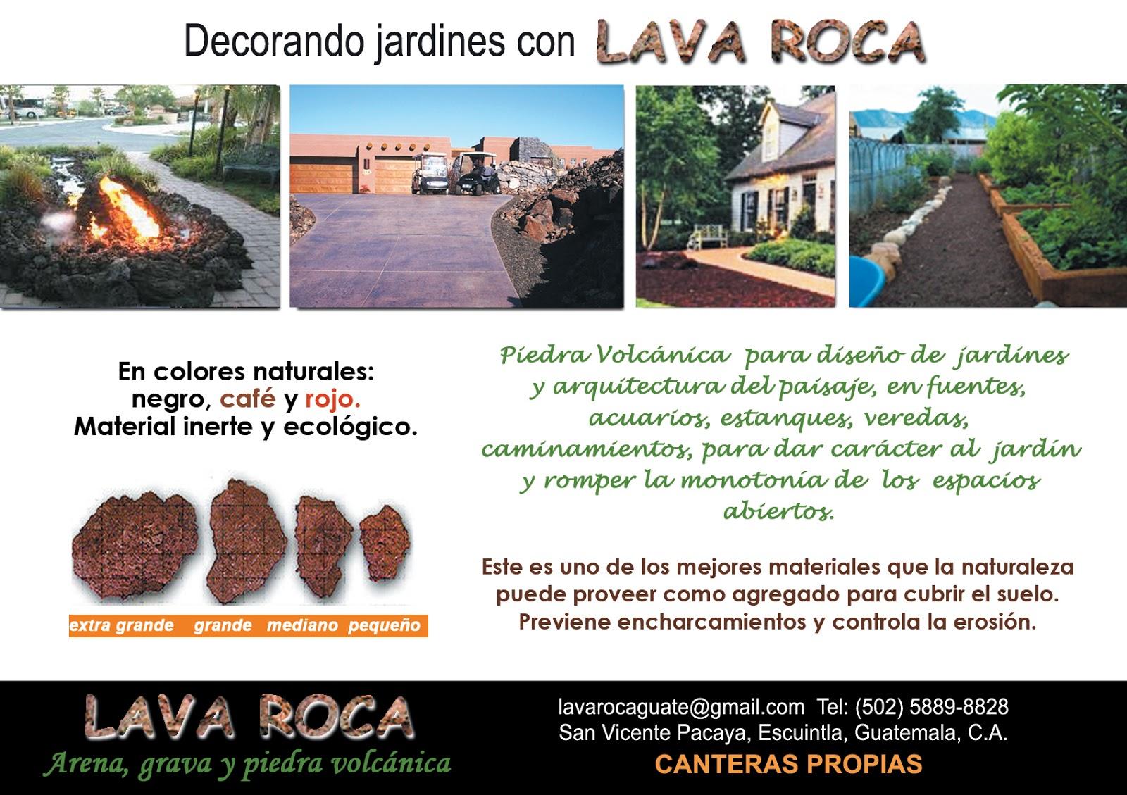 Arena grava y piedra volc nica de colores lava roca for Grava de colores para jardin