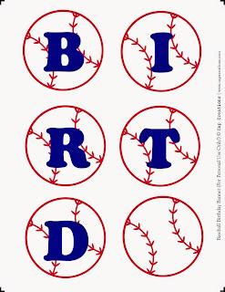 Baseball, Free Printable Banner.