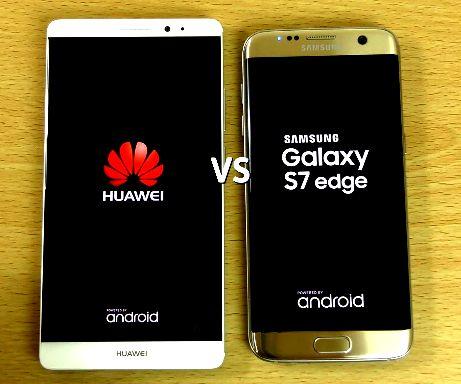 Samsung s7 edge vs huawei p9