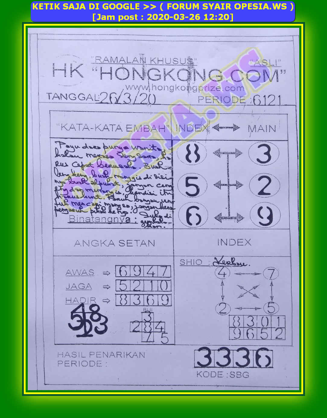 PREDIKSI hongkong hk OPESIA