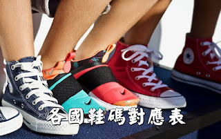 各國鞋碼對應表、腳長cm、歐碼、英國碼uk、美國碼us