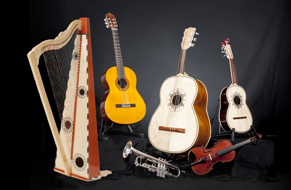 what instruments are played in a mariachi band