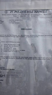 PT. Pyo Joon Mold Indonesia jababeka II cikarang