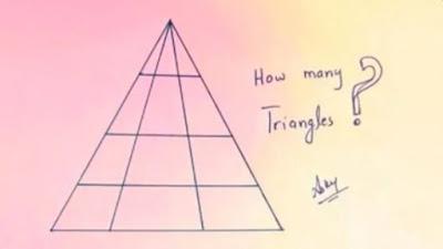 Acertijo : Cuántos triángulos hay en la imagen?