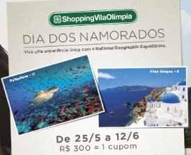 Promoção Dia dos Namorados 2018 Shopping Vila Olímpia Viagens
