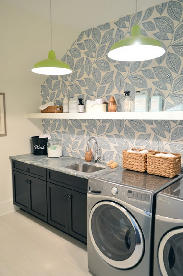 DIY Small Laundry Room Organization Ideas With Top Loading Washer 12