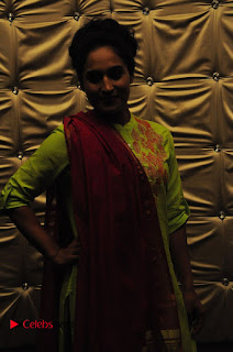 Actress Pooja Ramachandran Pictures in Salwar Kameez at Marala Telupana Priya Audio Launch  0043.JPG