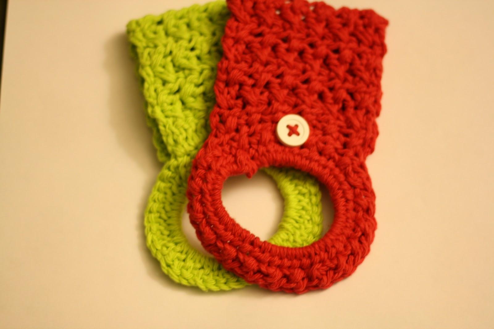 Crochet Towel Holder Ring Tutorial