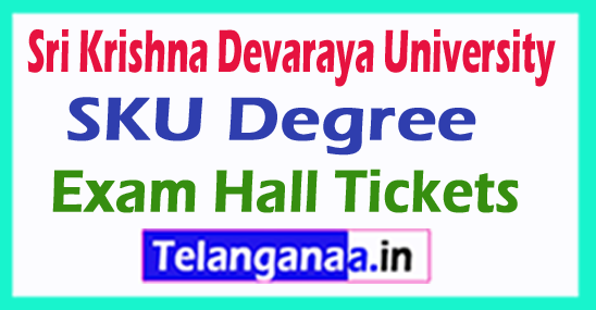 SKU Degree Regular Supply Exam Hall Tickets