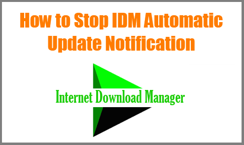 Disable IDM Automatic Update Notification