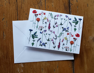 Flowers card by Alice Draws The Line