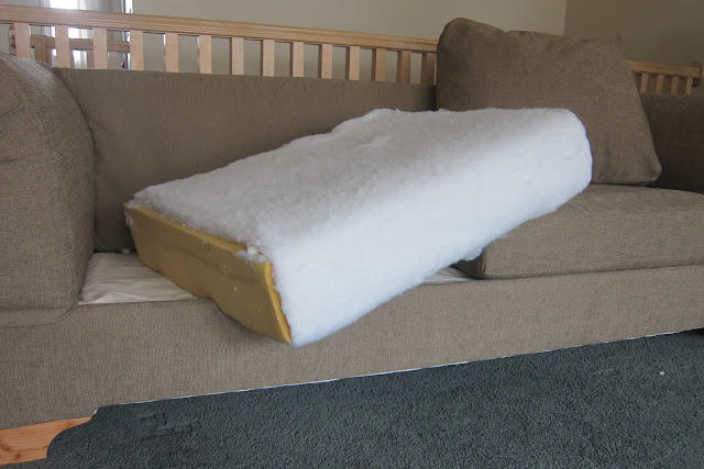 how much fabric to make a sofa cover dfs 2 seater leather bed do it yourself divas diy strip from couch and reupholster