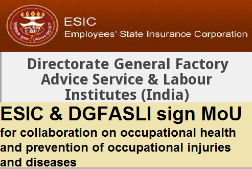 ESIC-DGFASLI-sign-MoU-paramnews-for-occupational-injuries-and-diseases