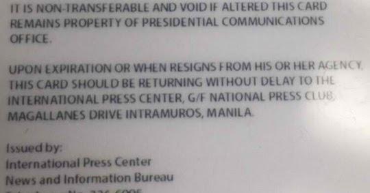 Pcoo Uson Malacanang Press Id Courier News After Saw Wrong Grammar Mocha Philippine Recalls