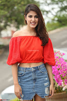 Rhea Chakraborty in Red Crop Top and Denim Shorts Spicy Pics ~  Exclusive 108.JPG