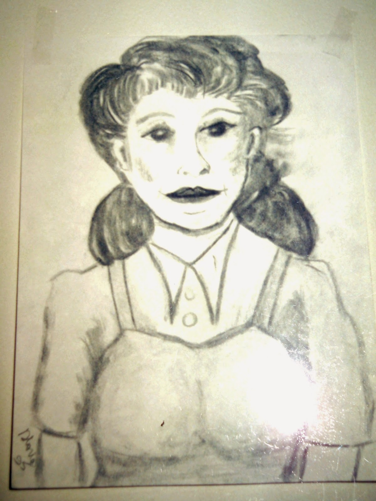 Pencil drawing by Gloria Poole of Atlanta, Ga in yr 1995