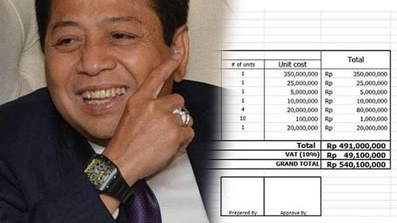 Beredar Estimasi Biaya Untuk Gelar 'Kecelakaan Tiang Listrik' Setya Novanto Jadi Viral