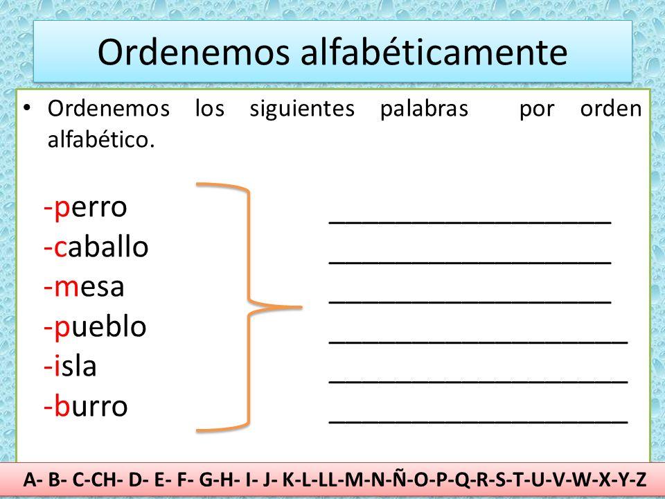 Rincón De Pablo Alumn S 2º Repaso Examen Ordenar Alfabeticamente Y El Abecedario