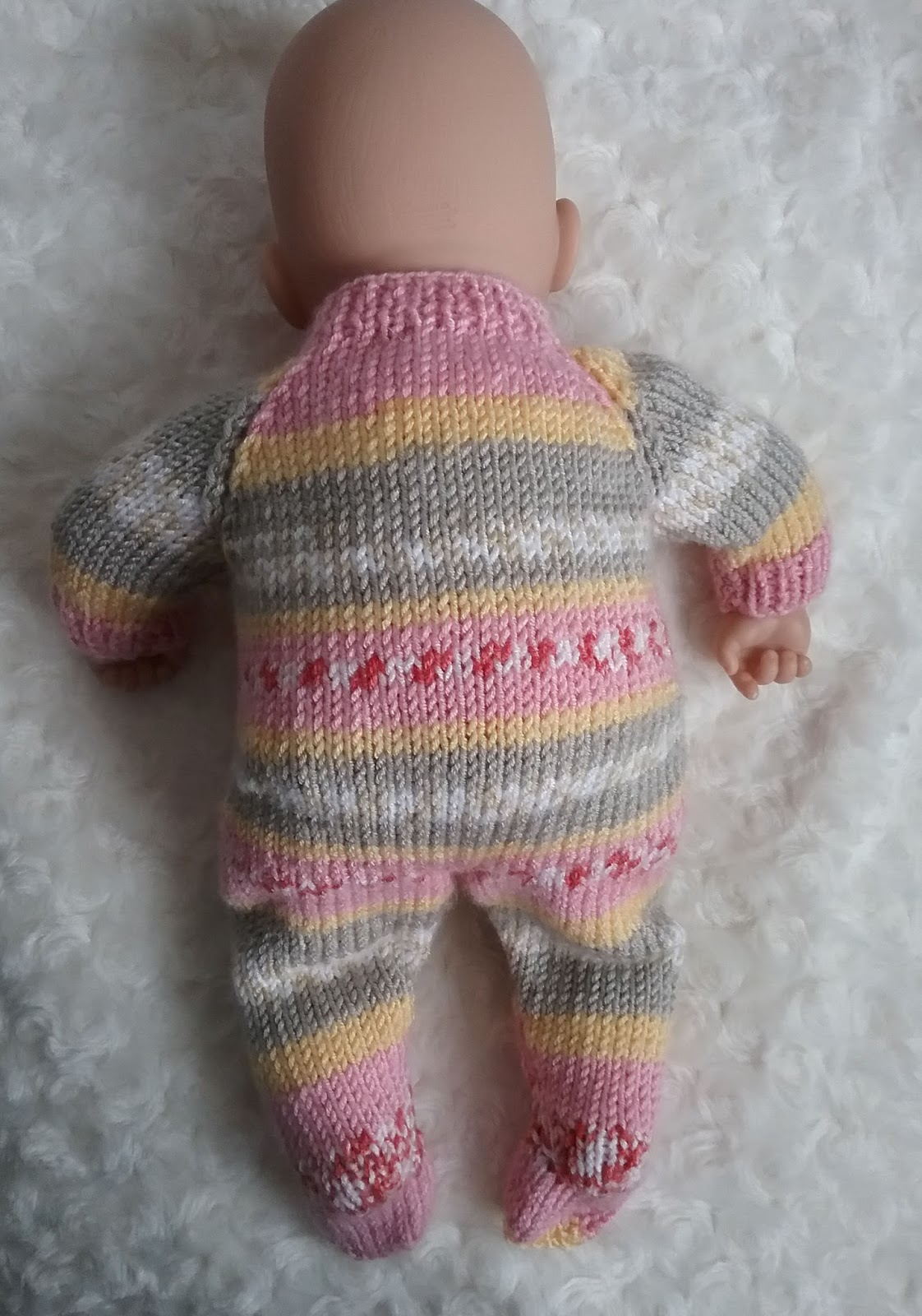 Linmary Knits Baby Annabell Sleepsuit