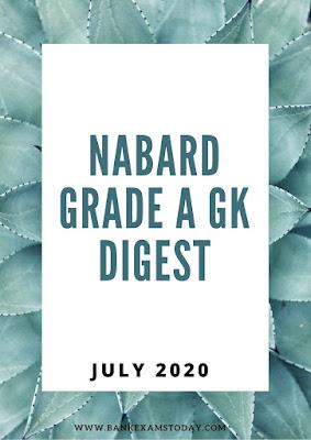 NABARD Grade A GK Digest: July 2020